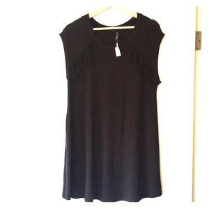 Riller & Fount black short sleeved t-shirt dress